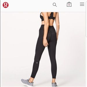 Lululemon Fast and Free 7/8 Nulux Black Leggings